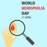 World hemophilia day cartoon design illustration 10 Stock Photography
