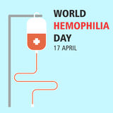World hemophilia day cartoon design illustration 09. World hemophilia day at 17 april Royalty Free Stock Image