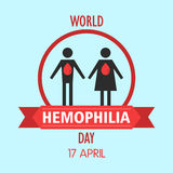 World hemophilia day cartoon design illustration 02. World hemophilia day at 17 april Royalty Free Stock Photo