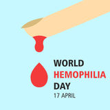 World hemophilia day cartoon design illustration 01. World hemophilia day at 17 april Royalty Free Stock Image