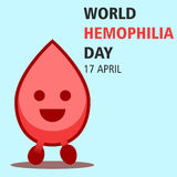 World hemophilia day cartoon design illustration 06. World hemophilia day at 17 april Stock Image