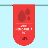 World hemophilia day cartoon design illustration 07. World hemophilia day at 17 april Stock Images