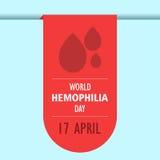 World hemophilia day cartoon design illustration 07 Stock Images