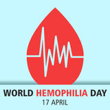 World hemophilia day cartoon design illustration 03. World hemophilia day at 17 april Stock Photos