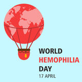 World hemophilia day cartoon design illustration 12. World hemophilia day at 17 april Royalty Free Stock Photos