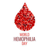 World Hemophilia Day design template Stock Photos