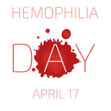 Hemophilia day. April 17. Vector illustration. World Hemophilia day. Vector illustration Stock Photography