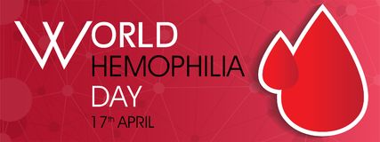 World hemophilia day. On April 17 background Stock Photos
