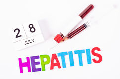 World hepatitis day concept. Royalty Free Stock Images