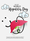 World Hepatitis Day. Illustration of a Banner for World Hepatitis Day Royalty Free Stock Images