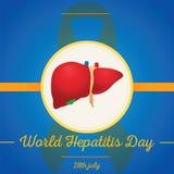 World Hepatitis Day, 28 July. Royalty Free Stock Photography