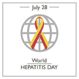 World Hepatitis Day, July 28. Vector illustration for you design, card, banner, poster and calendar royalty free illustration