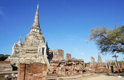 World Heritage Ayutthaya Temple Stock Image