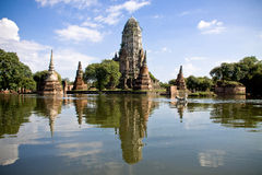 World heritage in ayutthaya thailand Royalty Free Stock Image