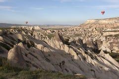 World Heritage, Cappadocia, Goereme, Turkey. Balloons over Goreme, Cappadocia Stock Photos