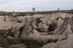 World Heritage, Cappadocia, Goereme, Turkey. Balloons over Goreme, Cappadocia Stock Images