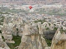 World Heritage, Cappadocia, Goereme, Turkey. Balloons over Goreme, Cappadocia Stock Photo