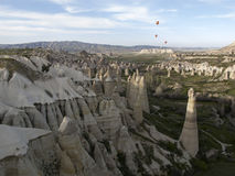 World Heritage, Cappadocia, Goereme, Turkey. Balloons over Goreme, Cappadocia Royalty Free Stock Photography