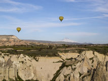 World Heritage, Cappadocia, Goereme, Turkey. Balloons over Goreme, Cappadocia Royalty Free Stock Photography