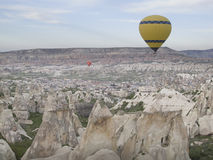 World Heritage, Cappadocia, Goereme, Turkey. Balloons over Goreme, Cappadocia Stock Image