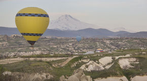 World Heritage, Cappadocia, Goereme, Turkey. Balloons over Goreme, Cappadocia Royalty Free Stock Image