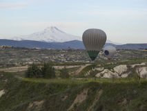World Heritage, Cappadocia, Goereme, Turkey. Balloons over Goreme, Cappadocia Royalty Free Stock Images