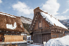 World Heritage, Light up of Shirakawago, Japan Stock Photo