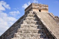 World heritage maya pyramid. In chchenitza Mexico royalty free stock photo