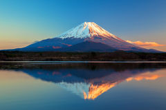 World Heritage Mount Fuji and Lake Shoji Stock Photos