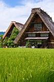 The world heritage Shirakawa-go.  Royalty Free Stock Photo