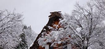 World Heritage Shirakawago in winter, Japan Stock Photos