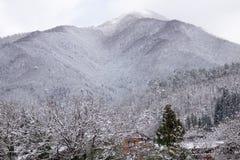 World Heritage Shirakawago in winter, Japan Stock Photo