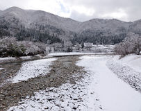 World Heritage Shirakawago in winter, Japan Royalty Free Stock Photos