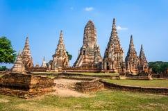 World Heritage Site in Ayutthaya, thailand Royalty Free Stock Photo