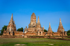 ,World Heritage Site in Ayutthaya, thailand Royalty Free Stock Images