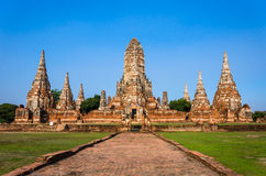 World Heritage Site in Ayutthaya, thailand Royalty Free Stock Photos