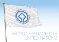 World Heritage Site flag, Unesco, United Nations organization Stock Photos
