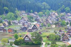 World heritage site Shirakawago Royalty Free Stock Photos