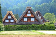 World heritage site Shirakawago Stock Photo