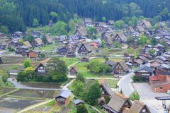 World heritage site Shirakawago Royalty Free Stock Photography