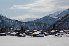 World Heritage, Snow of Shirakawago, Japan Royalty Free Stock Photos