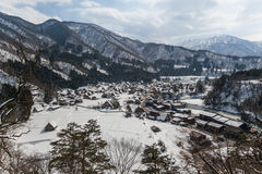 World Heritage, Snow of Shirakawago, Japan Stock Image
