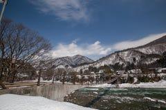 World Heritage, Snow of Shirakawago, Japan Stock Images