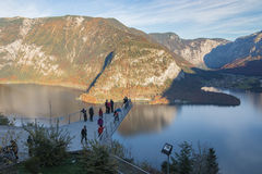 World Heritage View viewing platform, Hallstatt, Austria Royalty Free Stock Image