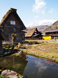 The world heritage village Shirakawa-go , Gifu , Japan Royalty Free Stock Images