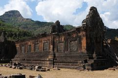 World Heritage Wat Phou: Khmer Temples In South Laos Royalty Free Stock Photo