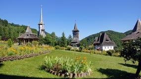 Barsana Monastery in Marmures county, Romania Stock Photography