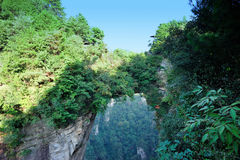 World highest bridge at zhangjiajie Royalty Free Stock Images