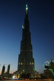 World highest skyscraper Burj Dubai at night Stock Photography