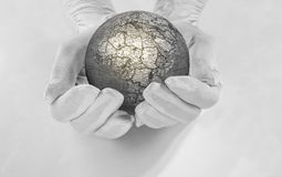 The world in his hands Stock Image